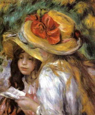 PIERRE-AUGUSTE-RENOIR_TWO-YOUNG-GIRLS-READING